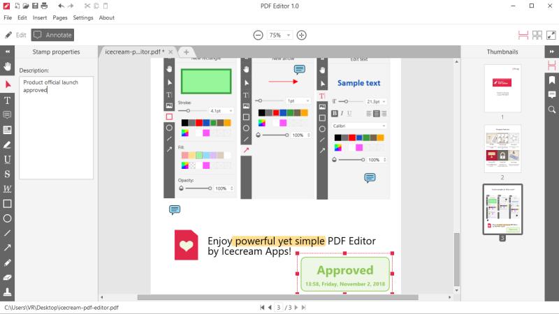 Icecream PDF Editor - annotate