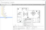 PrinterLogic Screenshot: PrinterLogic floor plan showing printer locations