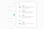 Vero screenshot: Vero Workflow actions