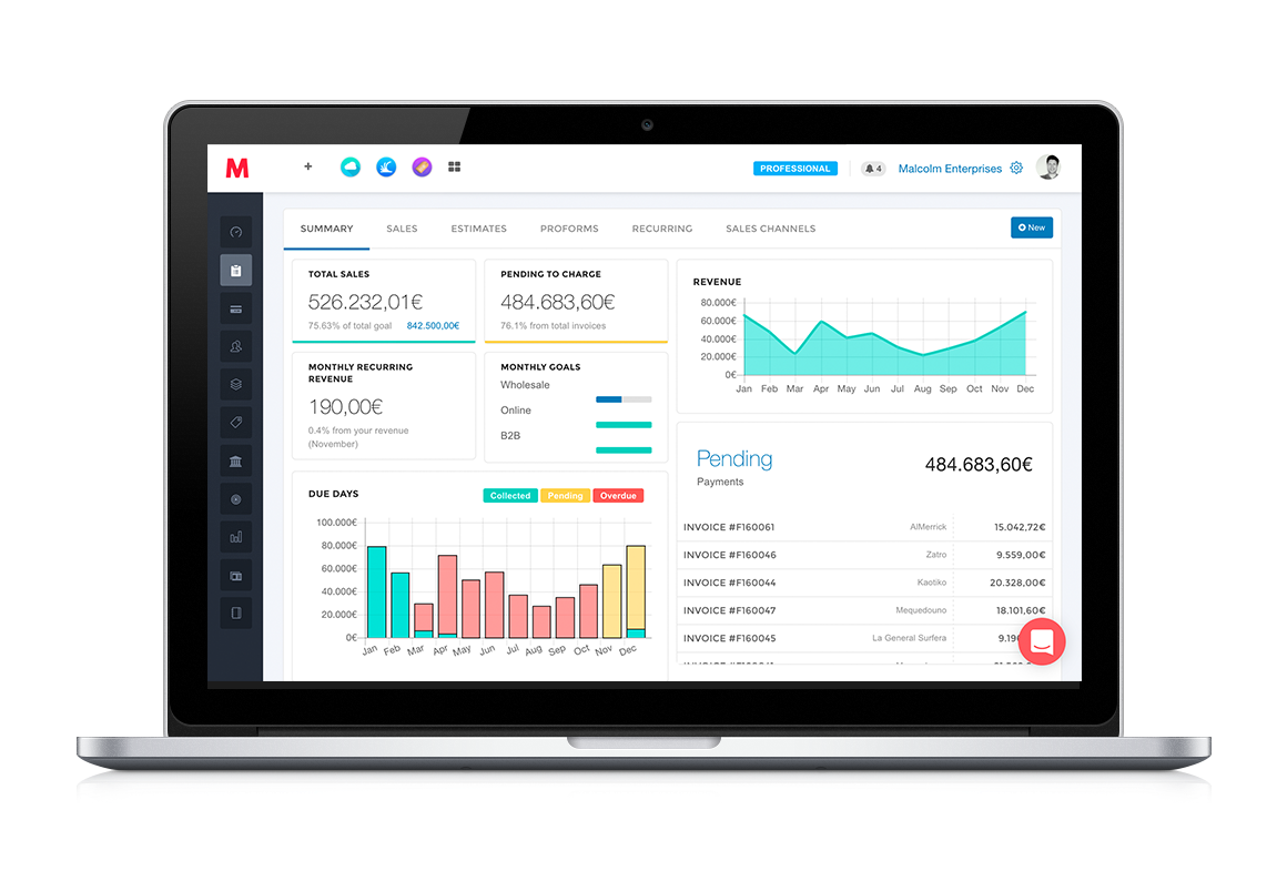 View all business information at a glance with multiple dashboards