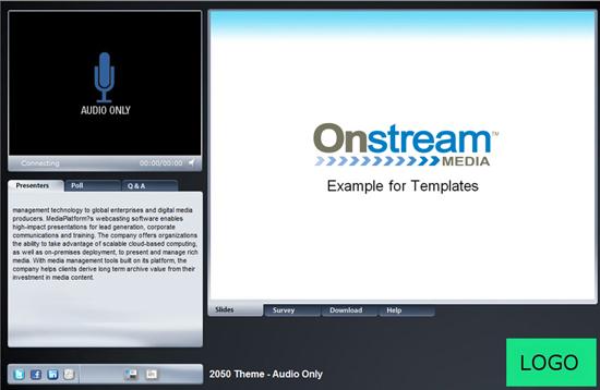 Onstream Meetings sample templates