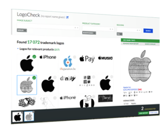 Search millions of different logos and designs across multiple global registries and databases instantly