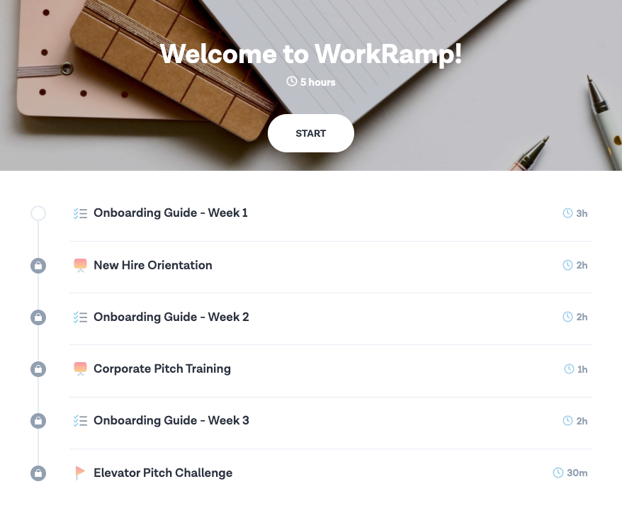 WorkRamp Software - Learner Onboarding Path
