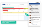 Second CRM screenshot: Second CRM task management tool that allows you to work smarter. Simply drag and drop your tasks into colorful categories. You can instantly indicate the urgency, effort and timescale of each of your tasks and get notification timely.