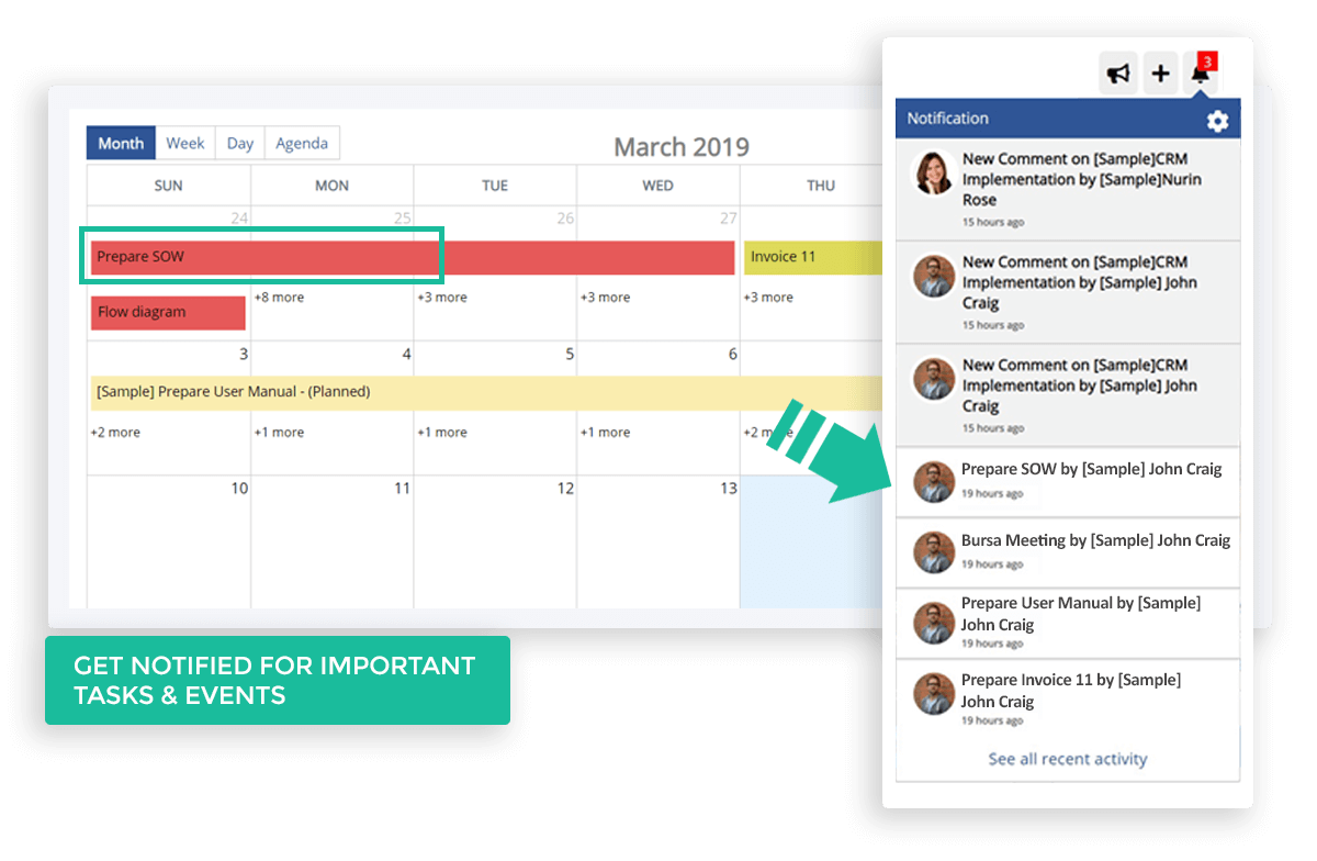 Second CRM task management tool that allows you to work smarter. Simply drag and drop your tasks into colorful categories. You can instantly indicate the urgency, effort and timescale of each of your tasks and get notification timely.