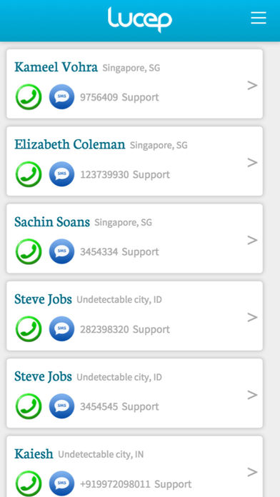 Connect and manage all leads in a simple call list