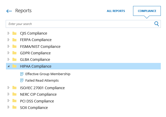 Access compliance reports