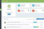 Ovatu Screenshot: The customer file gives an overview of revenue per customer, as well as current reservations, history, and balance