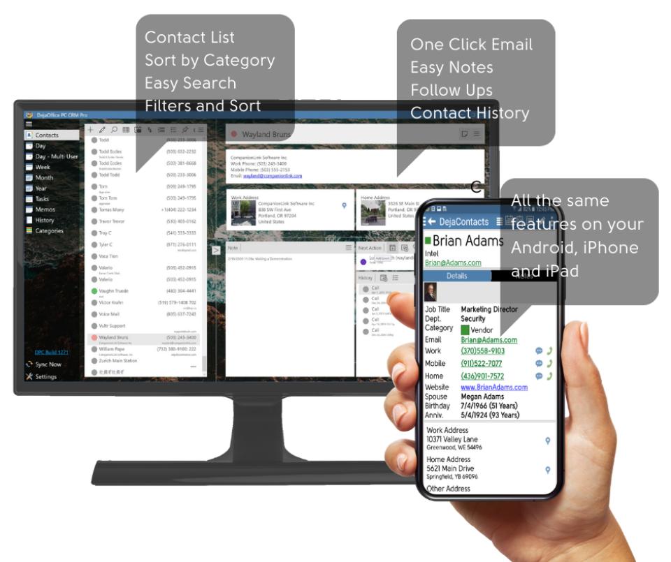 DejaOffice PC CRM Software - 2