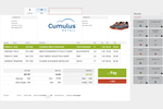 Cumulus Retail screenshot: Through a fully customizable point of sale screen, you can process sales and assist your customers from anywhere in your store; with assurance that even if your internet goes down, your mobile ePOS system won't.