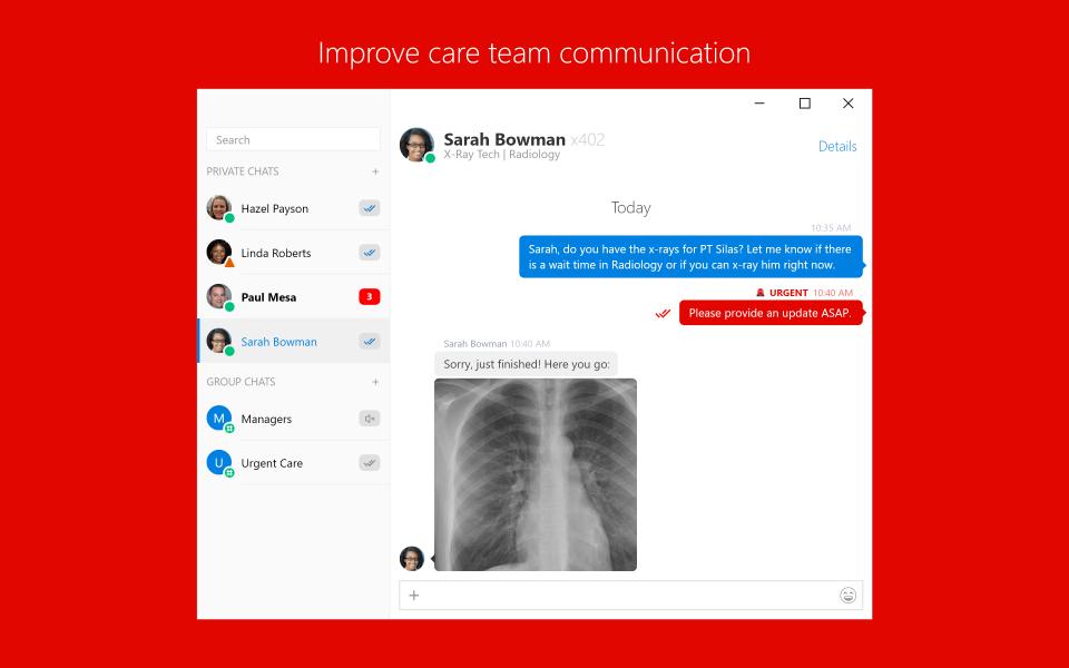 Trillian screenshot: Improve care team communication