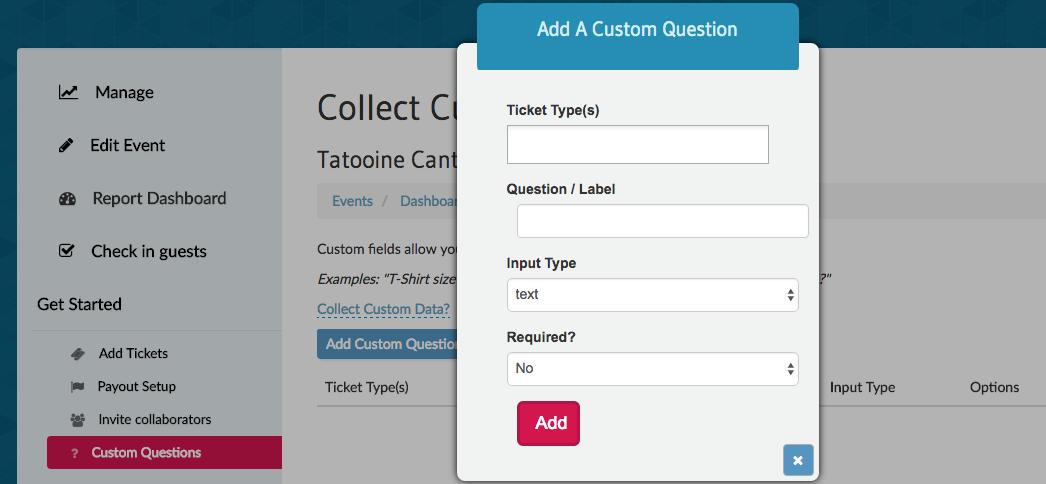 Ticketbud support ticket creation