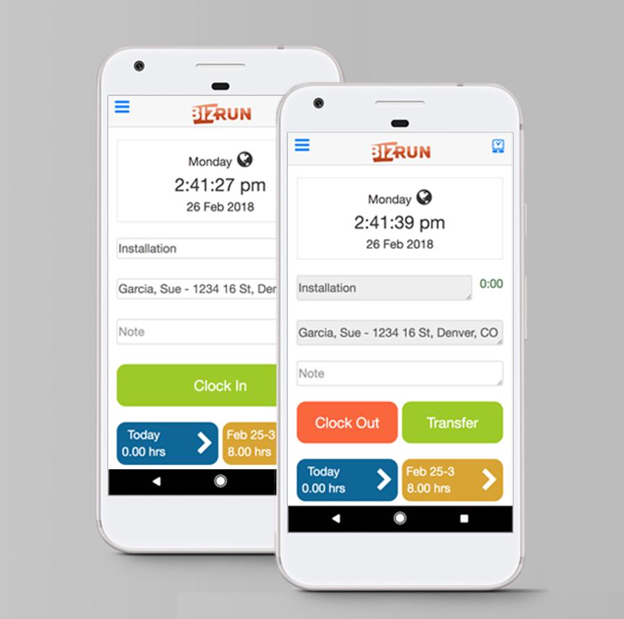 BizRun Software - Mobile timekeeping