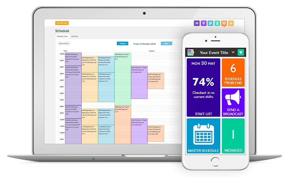 Built for live events InitLive is an internationally acclaimed staff and volunteer management software that allows event planners to efficiently manage teams of any size.