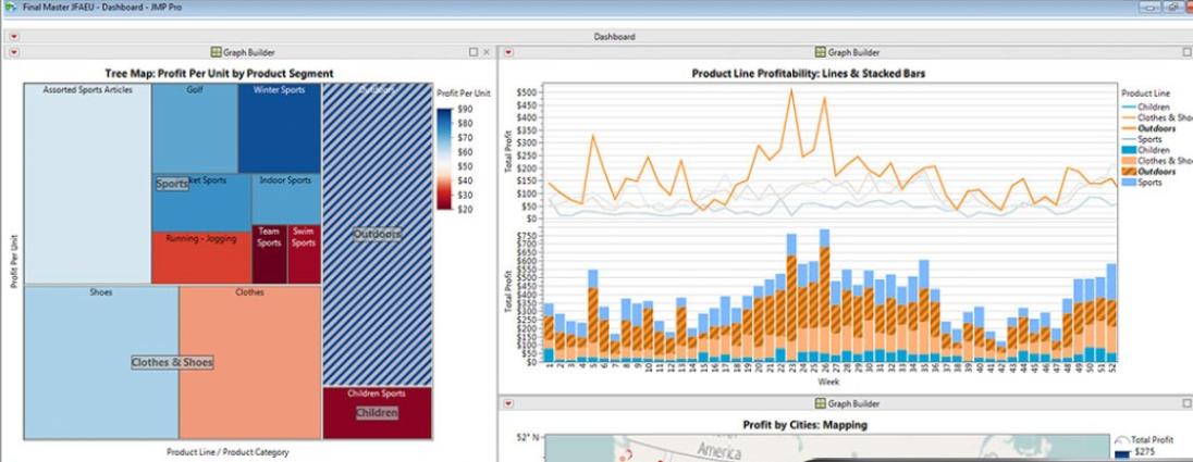 JMP Software - JMP main dashboard