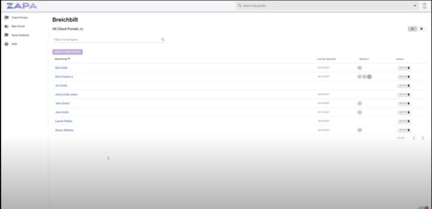 Zapa Client Portals client portals
