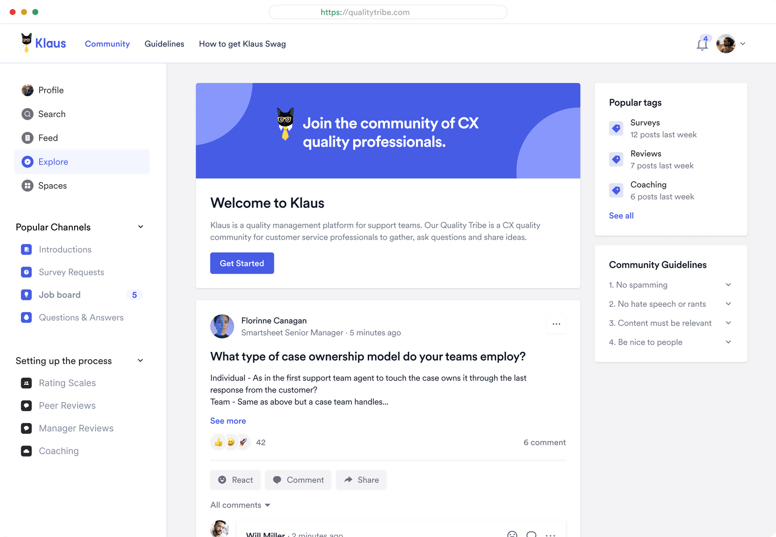 Connect customers, facilitate discussions, collect feedback, and share updates.