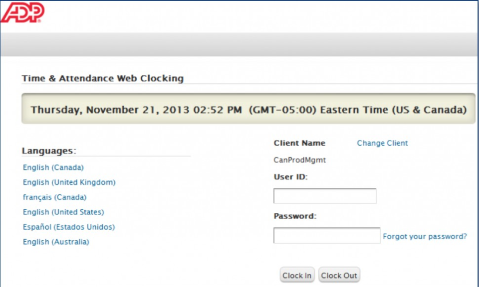 Log in securely with user ID and password