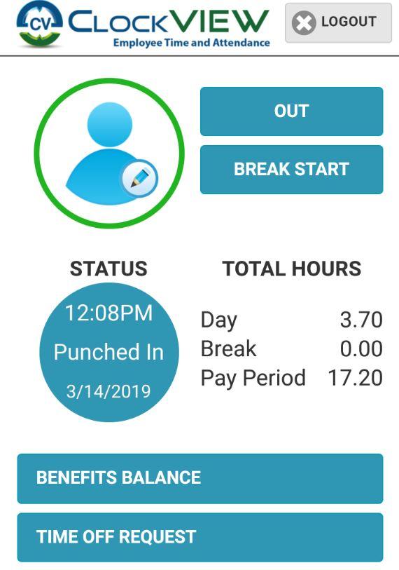 ClockVIEW employee status