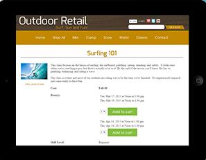 Rain Point of Sale outdoor retail screenshot
