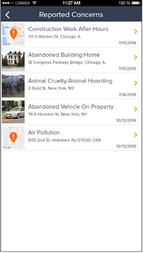 GovPilot reported concerns screenshot