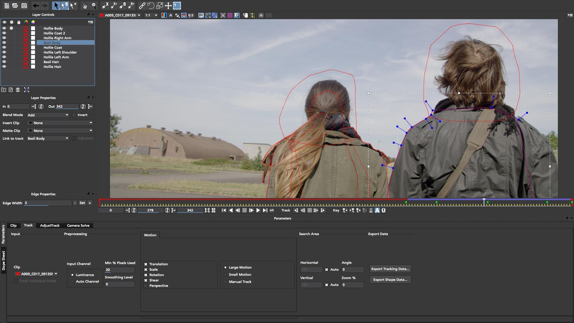 HitFilm Express 2D and 3D layering