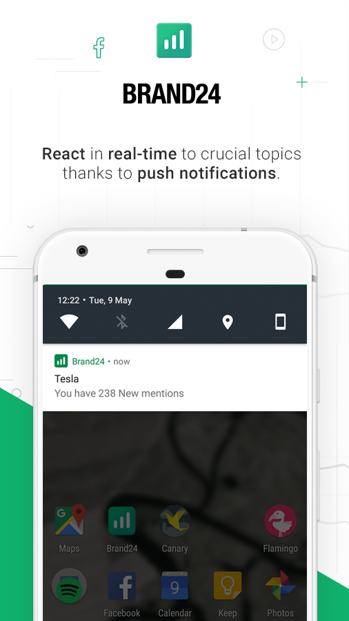 Get notifications for new mentions delivered via push notifications to mobile devices