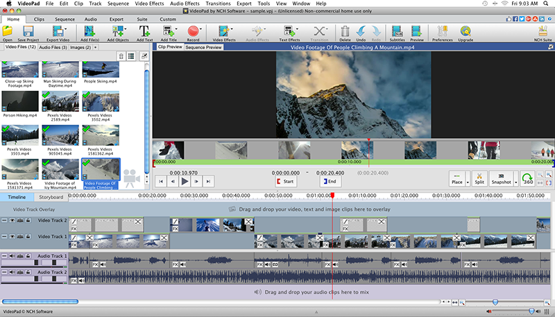 VideoPad Logiciel - 5