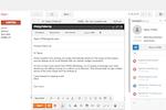Captura de tela do HubSpot Sales Hub: View prospect contact information, social media profiles, company information and more, right alongside emails
