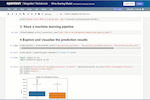 OpenText Magellan screenshot: OpenText Magellan Data Science Notebook for creating and sharing analytical assets and machine learning models