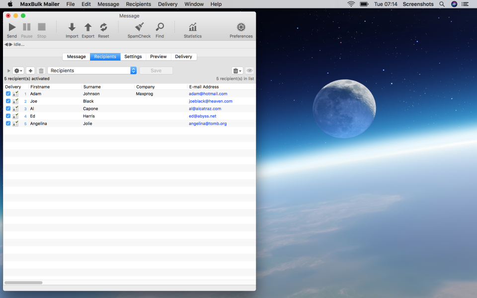 MaxBulk Mailer Software - 2