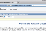 Amazon Cloud Search screenshot: AmazonCloudSearch-WebsiteSearch-Welcome
