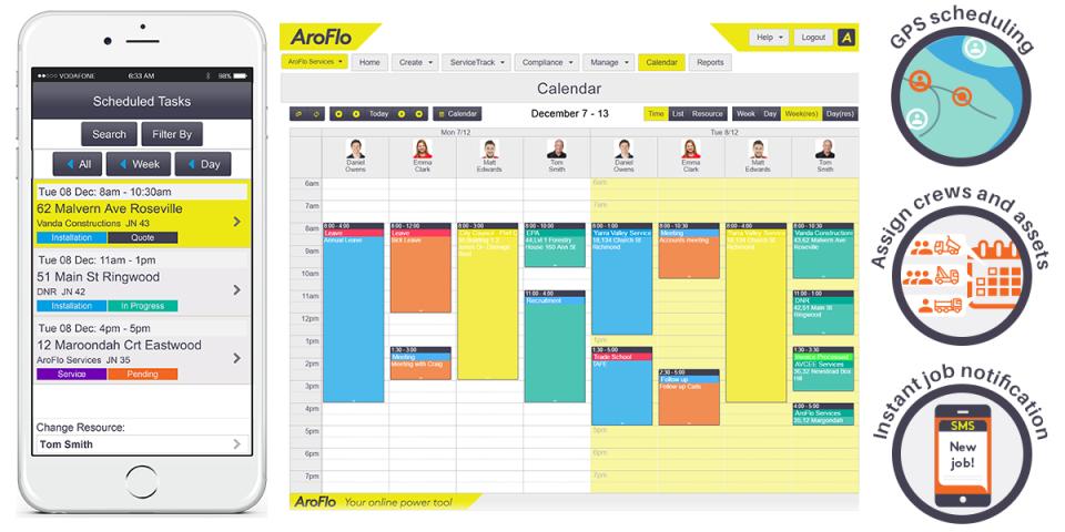 AroFlo Software - Job scheduling