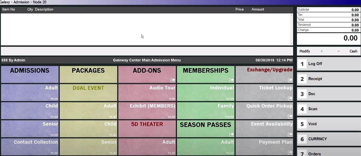 Galaxy screenshot: Galaxy admissions