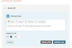 Captura de tela do Trakstar Performance Management: Take Notes