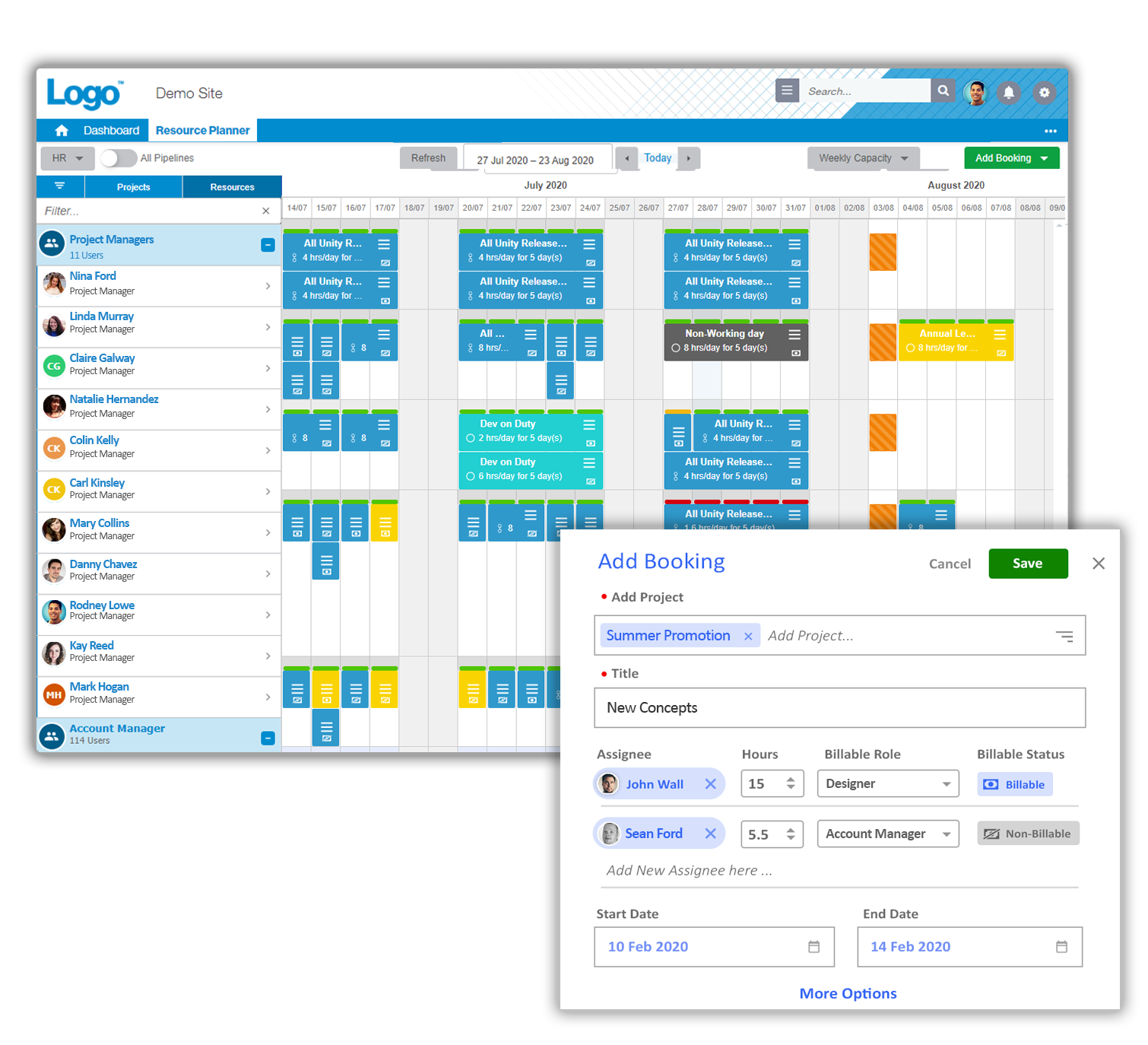 Screendragon Software - Resource Management - resource planning, schedulling & forecasting