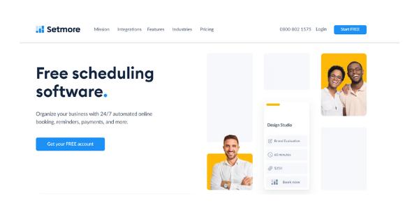 Setmore Software - Website
