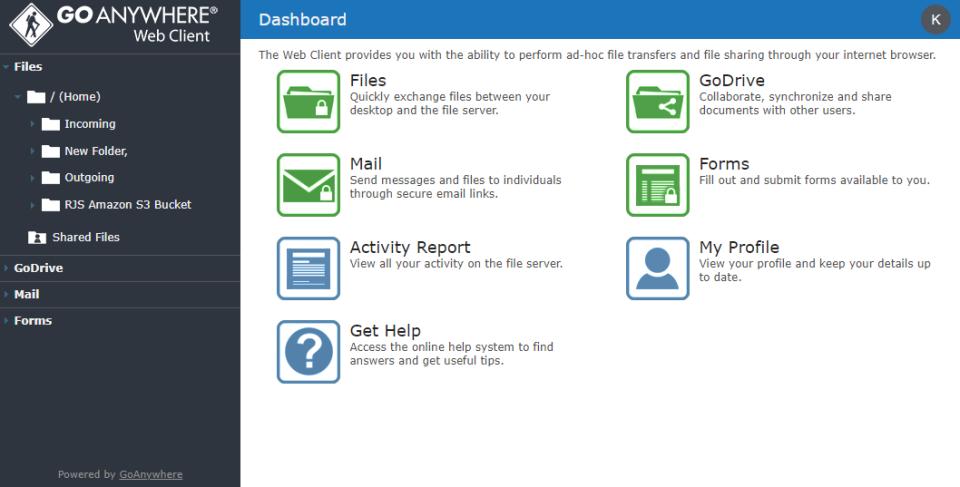 Web Client Dashboard