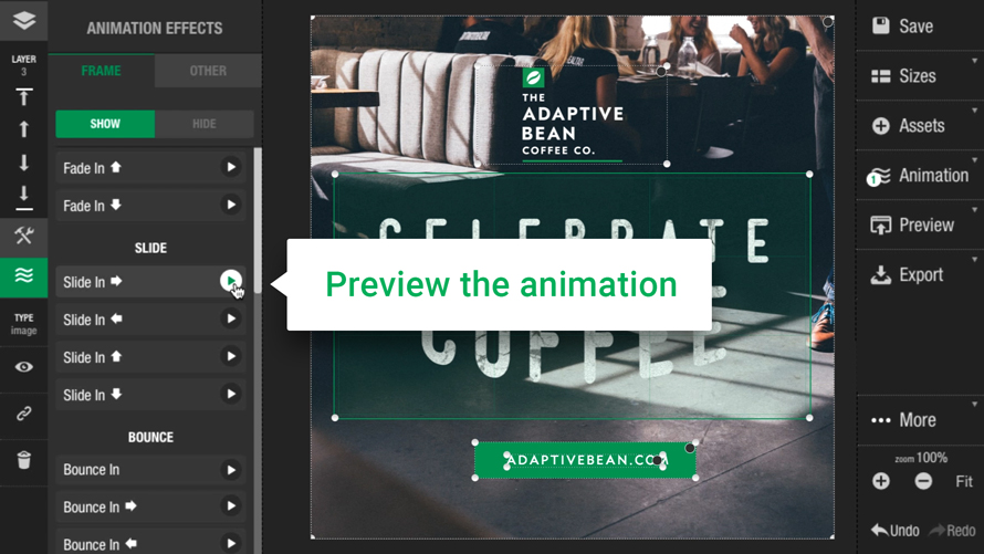 Flexitive preview functionality