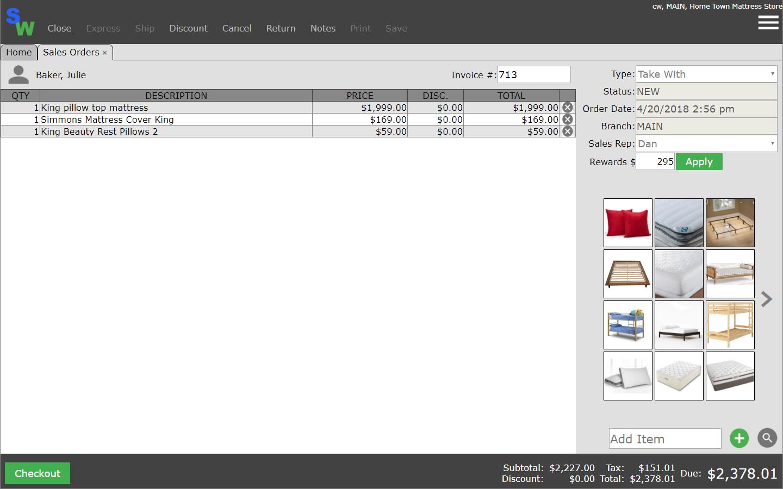 Smartwerks Software - Sales orders