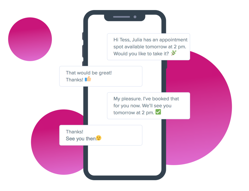 Power Diary automated SMS and email appointment reminders screenshot