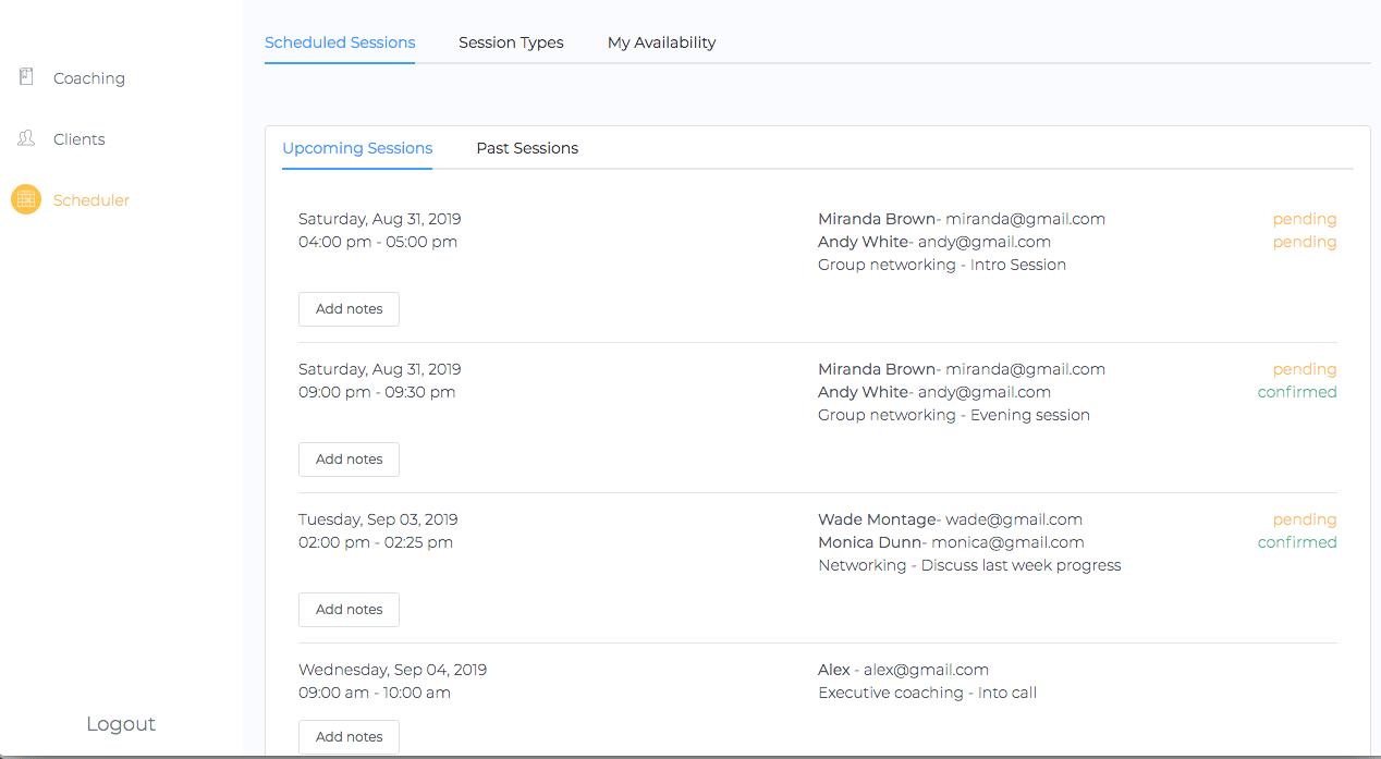 Qwoach calendar integration