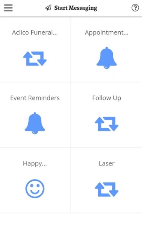 Revetize messaging categories