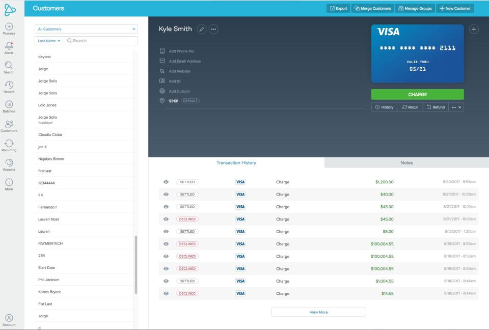 PayJunction Account Storage