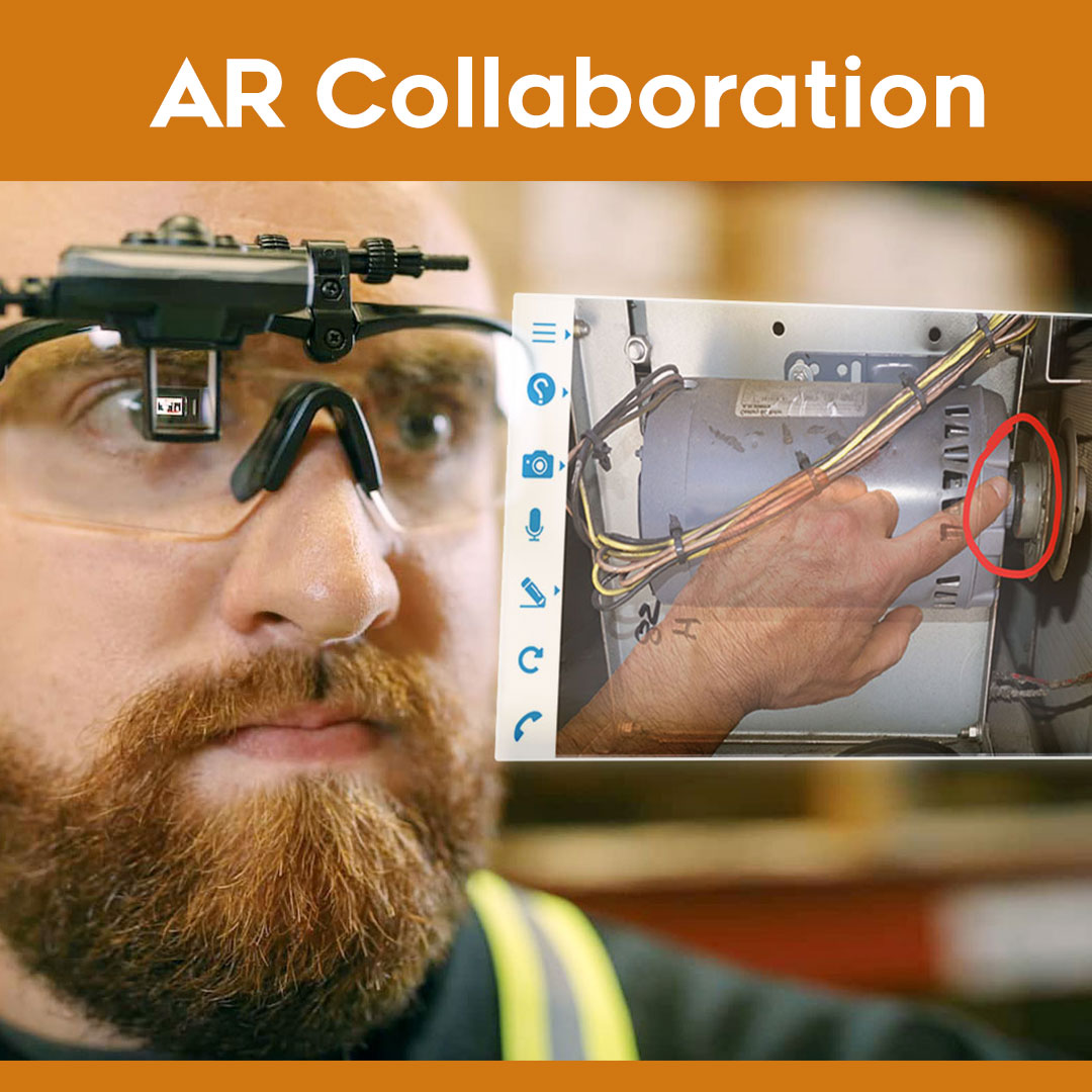 An onsite technician can also go hands free using supported smart glasses.