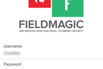 Fieldmagic screenshot: Log in securely to the Fieldmagic mobile app for iOS