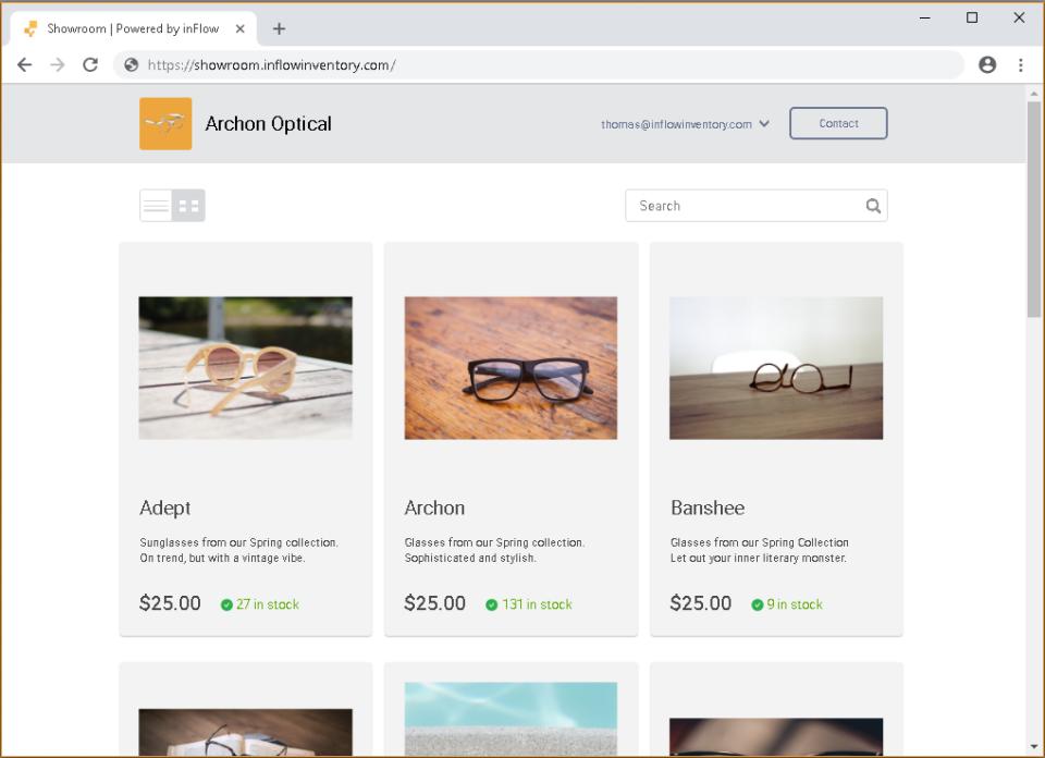 Web - Online Showroom