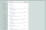 ServiceBox screenshot: Dashboard – View recent activity within your business