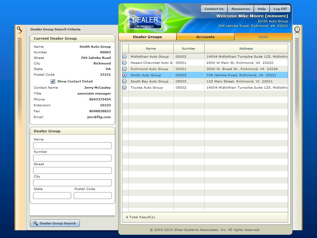 Commercial dealer portals