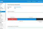 EventsCase screenshot: The registration dashboard provides insight into the user journey
